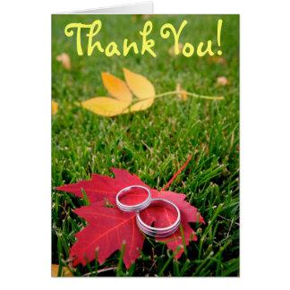 Cartão Alianças de casamento, obrigado