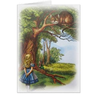 Cartão Alice e o gato de Cheshire