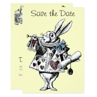 Cartão Alice em economias do coelho do país das