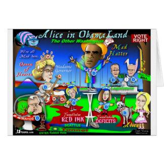 Cartão Alice em ObamaLand
