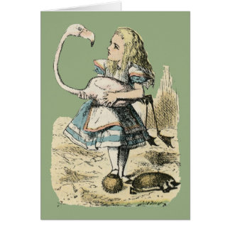 Cartão Alice & flamingo