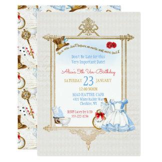 Cartão Alice na aguarela do país das maravilhas