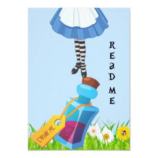 Cartão Alice no aniversário do país das maravilhas