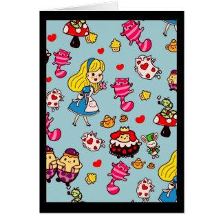 Cartão Alice no costume da decoração da forma dos