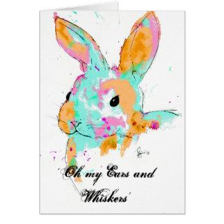 Cartão Alice no design da cor de água do país das