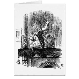 Cartão Alice no espelho