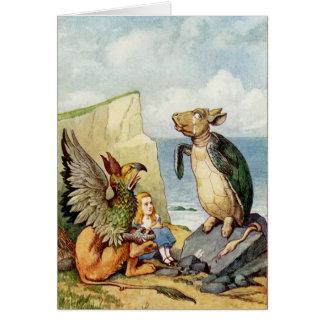 Cartão Alice no país das maravilhas