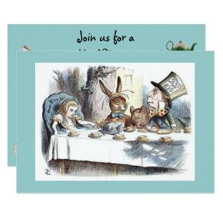 Cartão Alice no país das maravilhas, Hatter louco, tea
