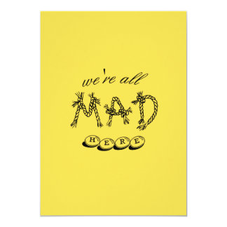 """Cartão Alice no país das maravilhas """"nós somos tudo"""