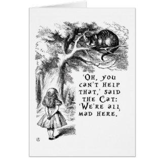 Cartão Alice no país das maravilhas - nós somos tudo