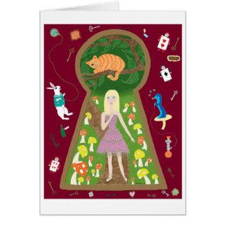 Cartão Alice (série #4 da forma do conto de fadas)