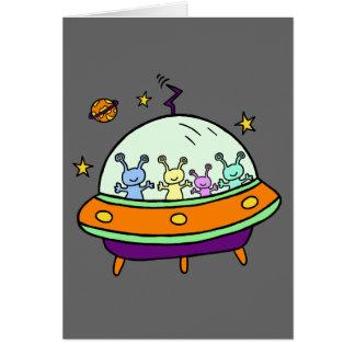 Cartão Aliens amigáveis