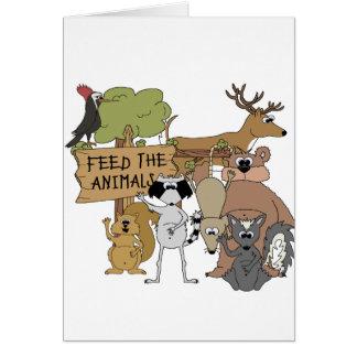 Cartão Alimente os animais