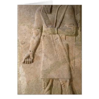 Cartão Alivio de um guerreiro Assyrian