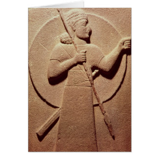 Cartão Alivio que descreve um guerreiro do Hittite
