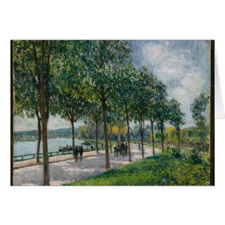 Cartão Allée de árvores de castanha - Alfred Sisley