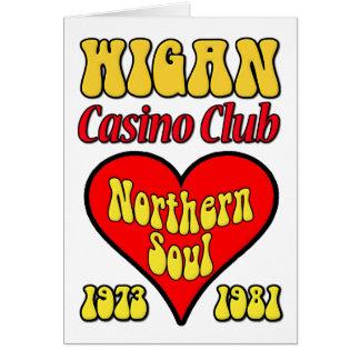 Cartão Alma do norte do clube do casino de Wigan