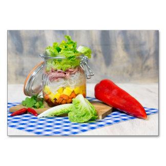 Cartão Almoço em um vidro
