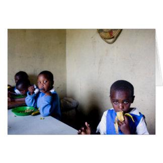Cartão Almoço, orfanato de Saidia