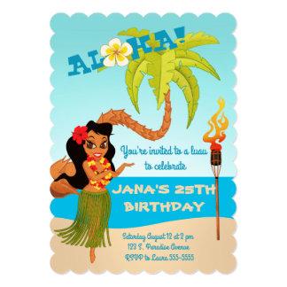 Cartão Aloha festa de aniversário de Luau
