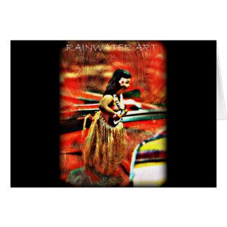 Cartão Aloha menina de Hula