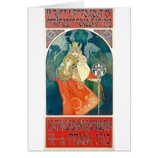 Cartão Alphonse Mucha 6o Sokol Festival, 1912