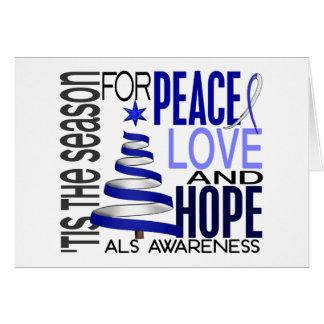 Cartão ALS do feriado do Natal da esperança do amor da