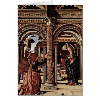 Cartão Altar do aviso por Francesco del Cossa