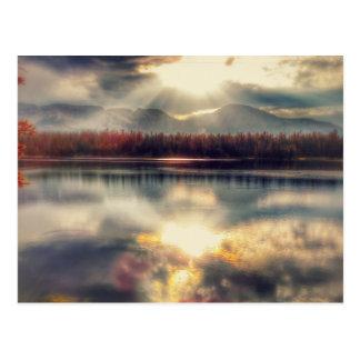 Cartão alto das montanhas do lago mirror - Utá