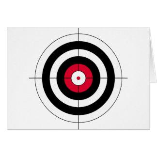 Cartão Alvo do BullsEYE dos Crosshairs