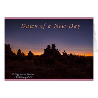 Cartão Alvorecer de um dia novo