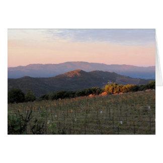 Cartão Alvorecer do pico do atlas, Napa Valley, 1