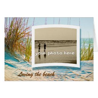 Cartão Amando a praia