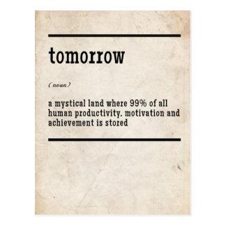 Cartão amanhã inspirado