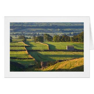 Cartão Amanhecer, Askrigg, os Dales de Yorkshire