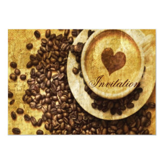 Cartão Amante chique do café dos feijões de café do