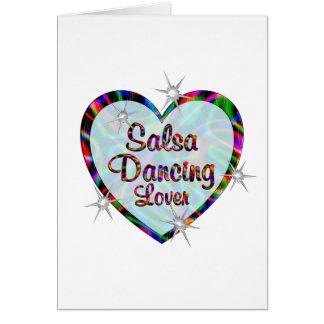 Cartão Amante da dança da salsa