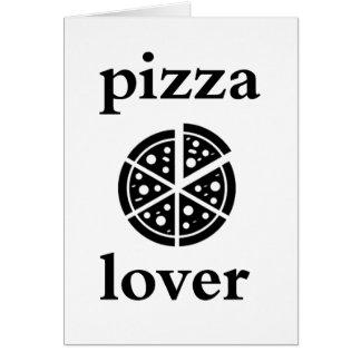 Cartão amante da pizza