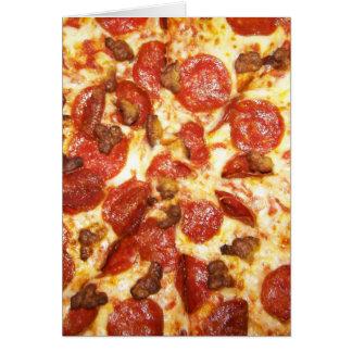 Cartão Amante dos Pepperoni e da pizza de salsicha