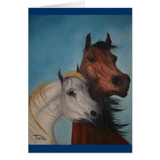 Cartão Amantes do cavalo