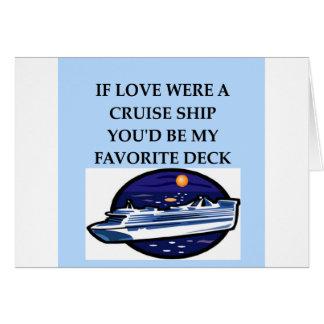 Cartão Amantes do navio de cruzeiros