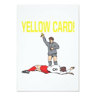 Cartão amarelo convite 12.7 x 17.78cm