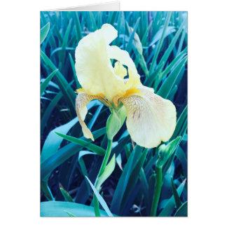 Cartão amarelo customizável da flor