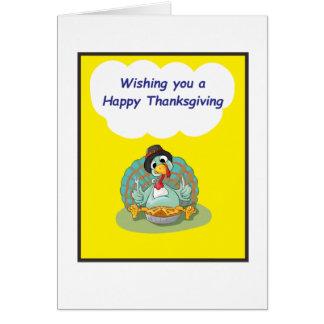 Cartão amarelo da acção de graças