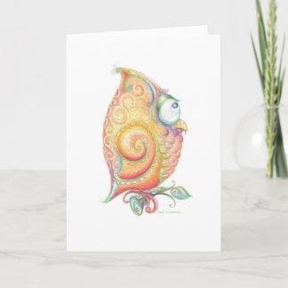 Cartão amarelo da coruja
