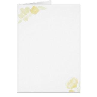 cartão amarelo da flor