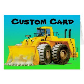 Cartão amarelo do costume do escavador
