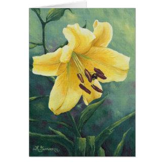 Cartão amarelo do lírio 0422