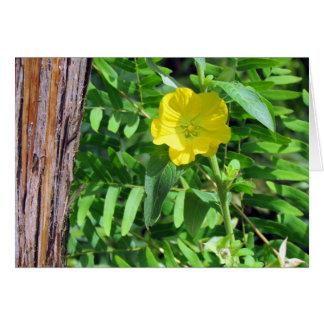 Cartão amarelo do Wildflower