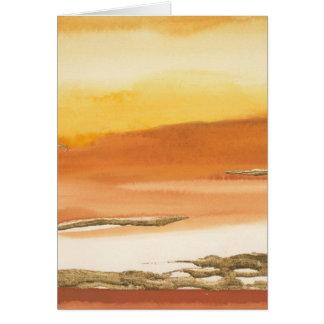 Cartão Âmbar dourado mim impressão do abstrato v2